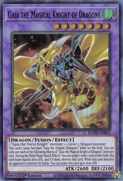 Gaia the Magical Knight of Dragons Yu-Gi-Oh Card