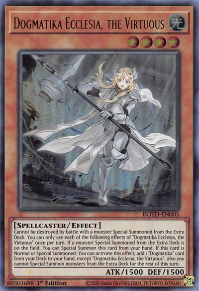 Dogmatika Ecclesia, the Virtuous YGO Card
