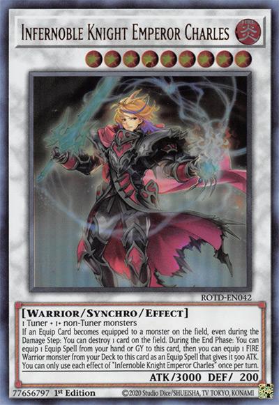 Infernoble Knight Emperor Charles Yu-Gi-Oh Card