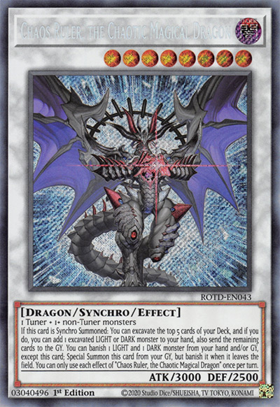 Chaos Ruler, the Chaotic Magical Dragon YGO Card
