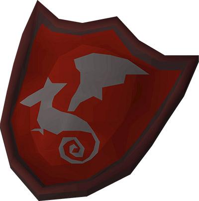 Dragon kiteshield OSRS Render