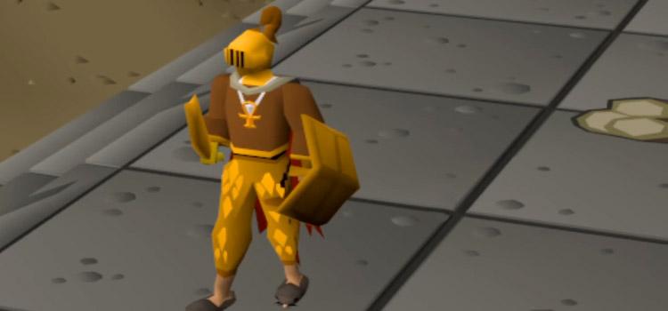 Golden equipment in Old School RuneScape