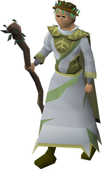 3rd Age Druidic Robes Equipped in OSRS