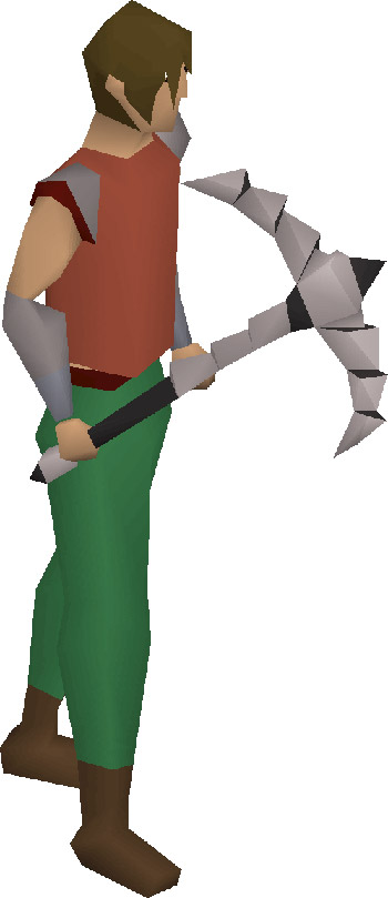 3rd Age Pickaxe OSRS Render