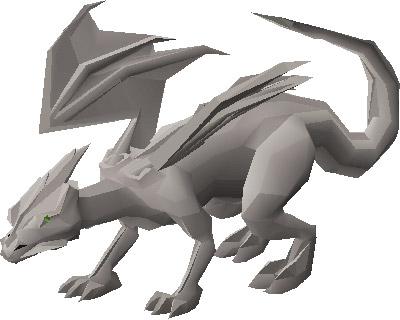 Steel Dragon OSRS Render