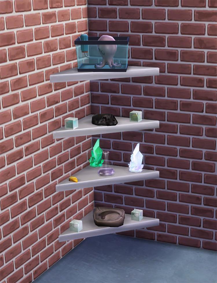 The Mega Minimal Corner Shelf TS4 CC