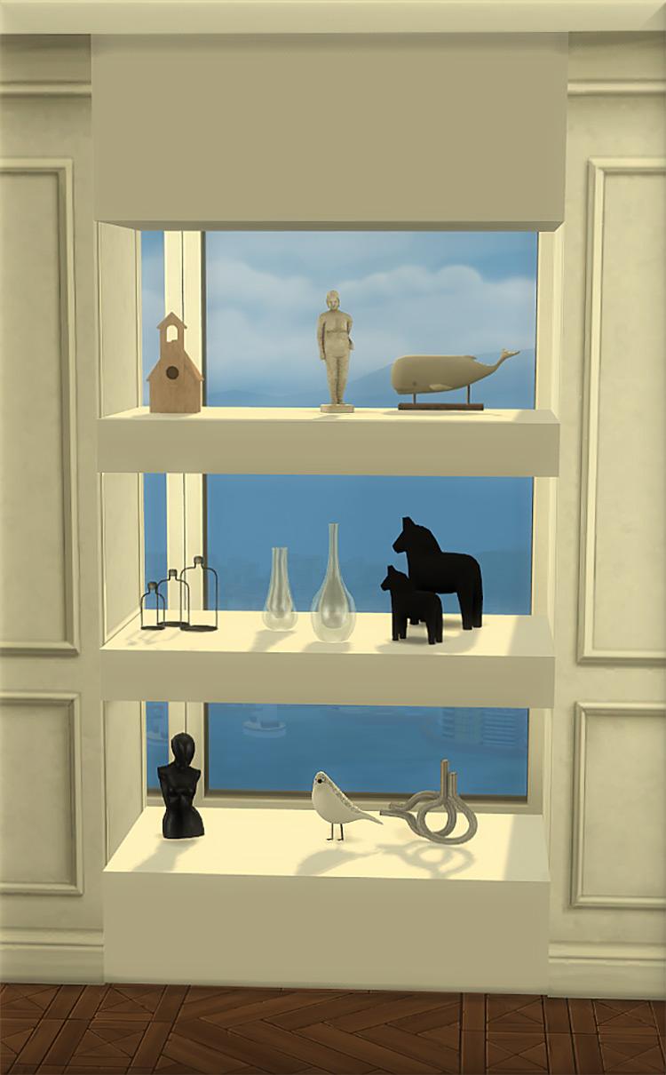 Wall Shelves Sims 4 CC
