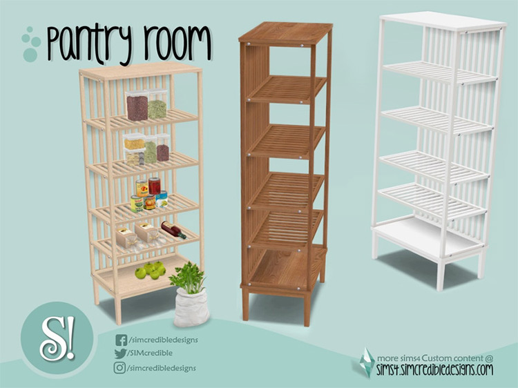 Naturalis Pantry Shelves TS4 CC