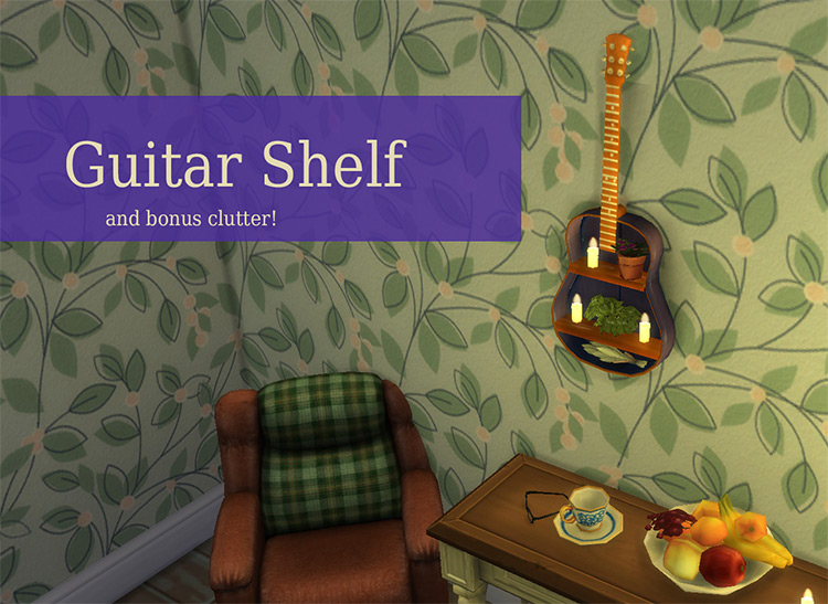 Upcycled Old Guitar Shelf for Sims 4