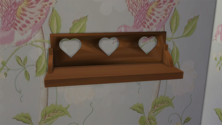 Shabby Chic Wood Shelf Sims 4 CC