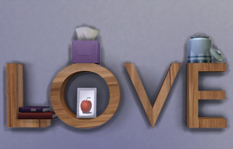 Love Shelf Sims 4 CC