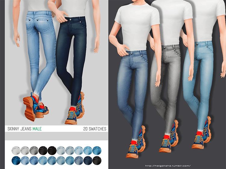 Skinny Jeans (Male + Female) Sims 4 CC