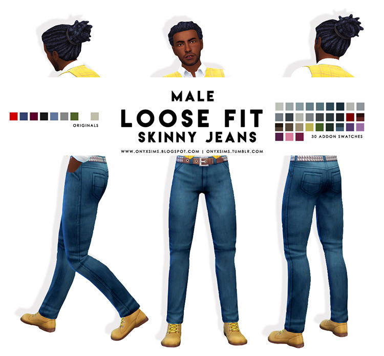 Male Loose Fit Skinny Jeans TS4 CC