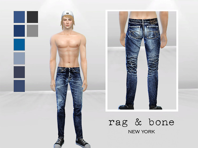 Evans Bleached Skinny Jeans Sims 4 CC