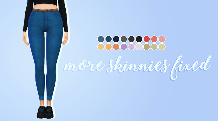 More Skinnies Fixed Sims 4 CC
