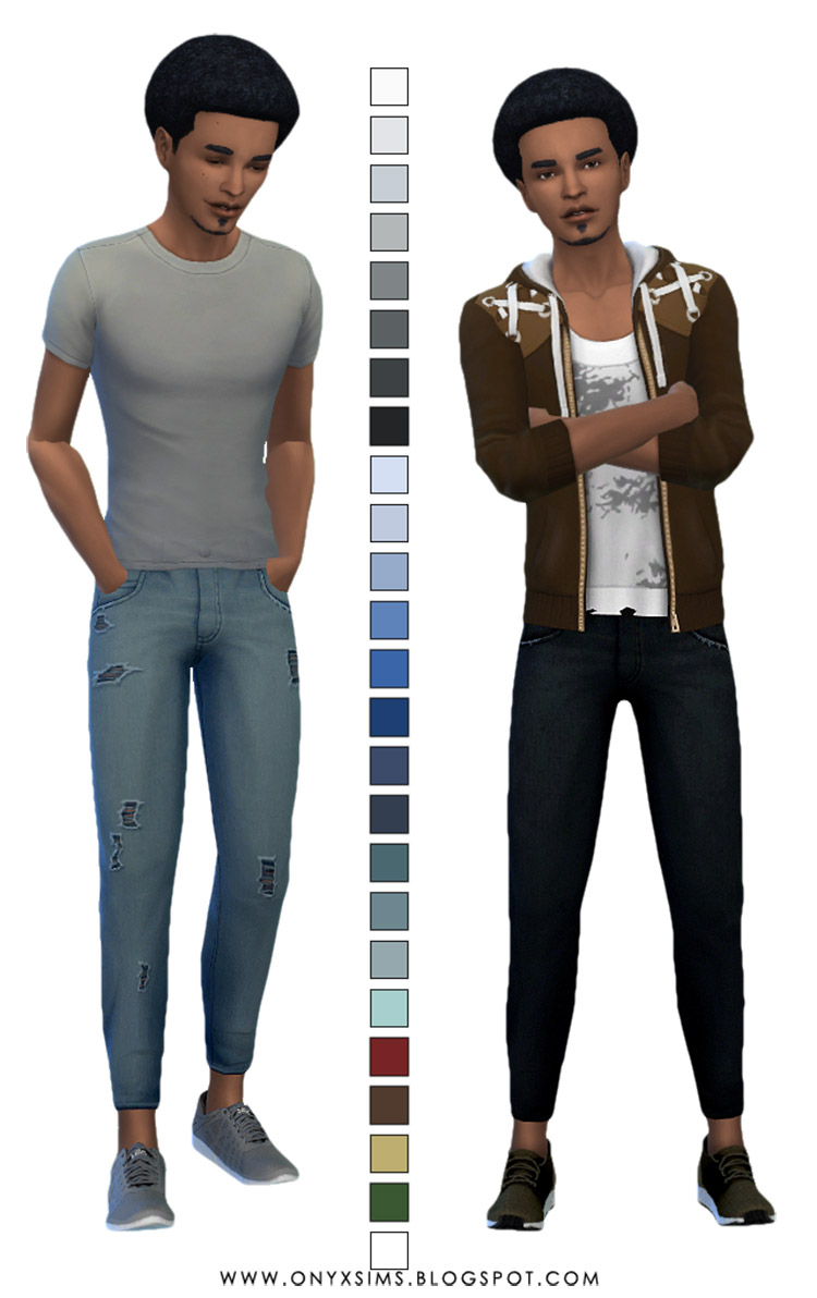 Relaxed Skinny Jeans CC for The Sims 4