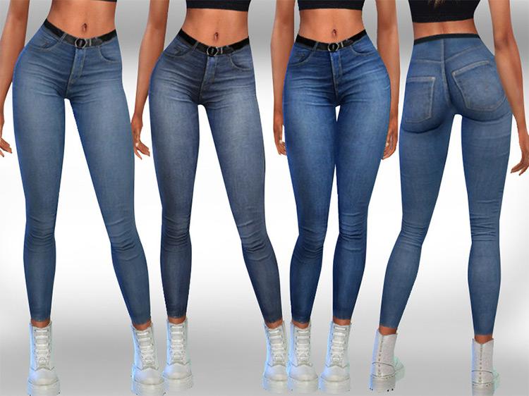 Female Skinny Fit Realistic Jeans TS4 CC