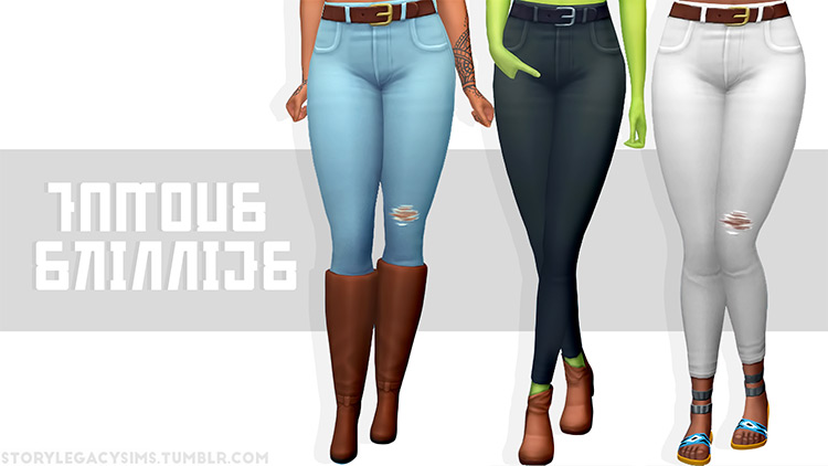 Famous Skinnies for Sims 4