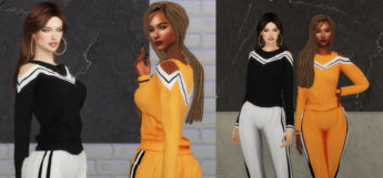 Ayumi Athletic Wear CC for Girls / The Sims 4
