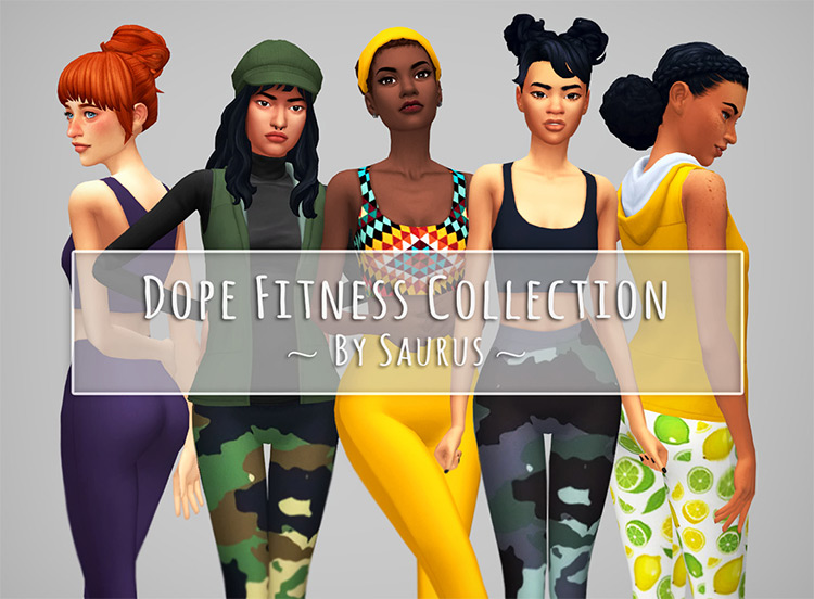 Dope Fitness Set Sims 4 CC