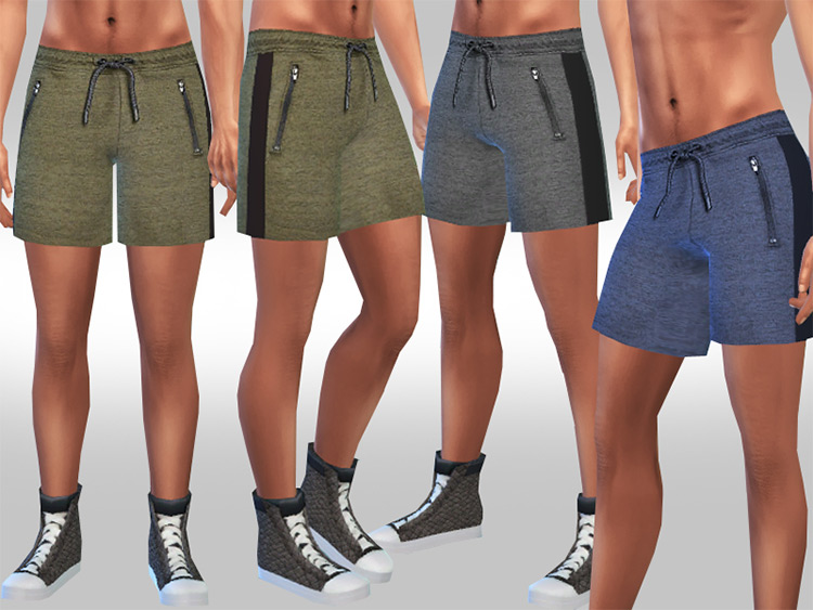 Men's Athletic Running & Track Shorts for Sims 4
