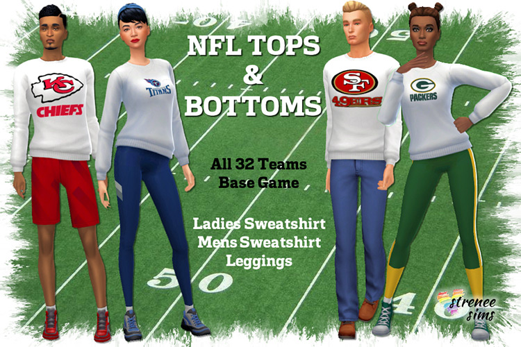 NFL Tops & Bottoms for Sims 4