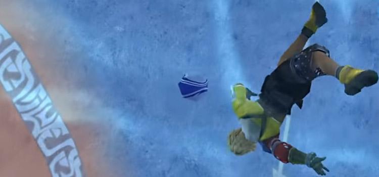 Tidus Blitzball Jecht Shot Screenshot from FFX
