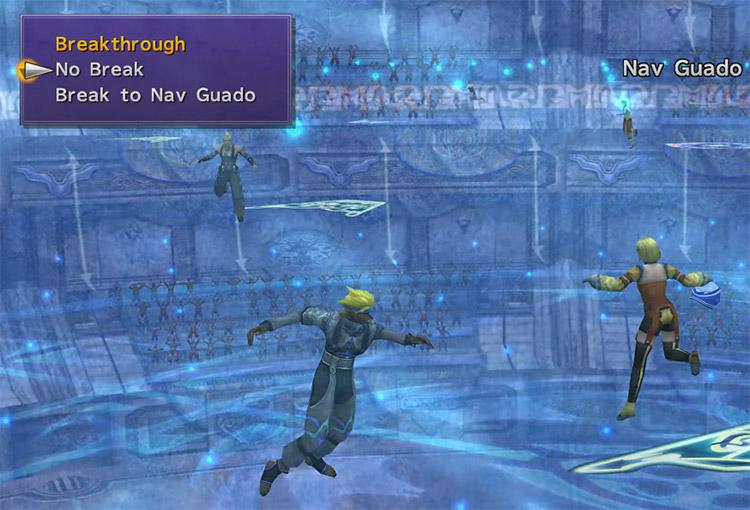 Blitzball break tackle battle screenshot in FFX HD