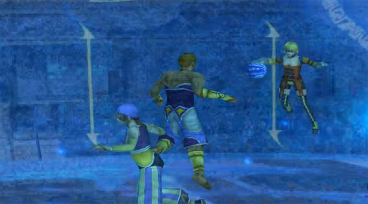 FFX Screenshot of Linna Blitzball Offense
