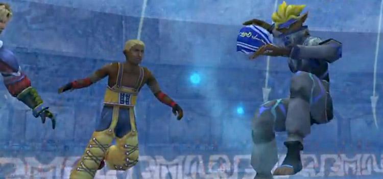 Nav Guado Throwing Blitzball in Final Fantasy X
