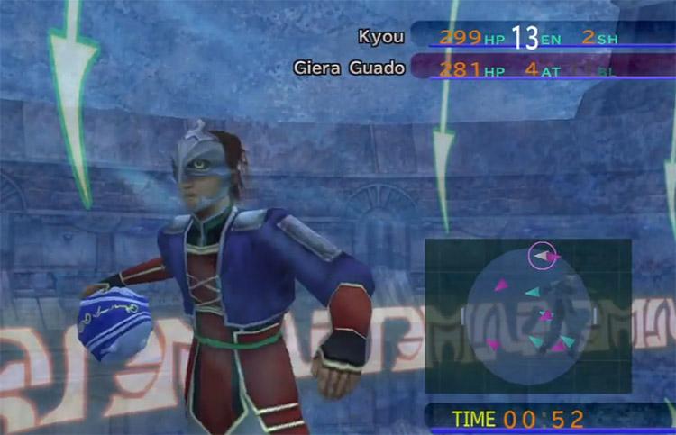 Kyou Defender in FFX Blitzball