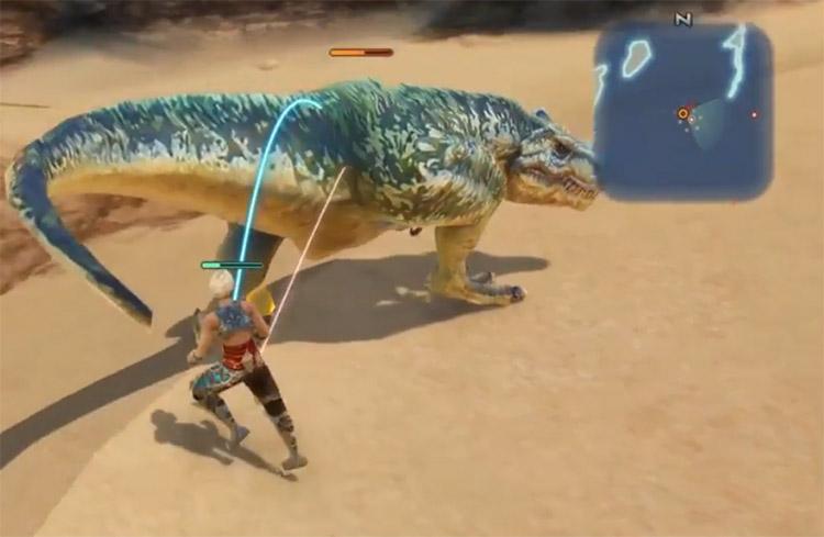 Wild Saurian Dinosaur Enemy in FF12 The Zodiac Age