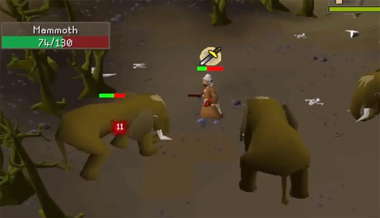 Battling Mammoths in OSRS