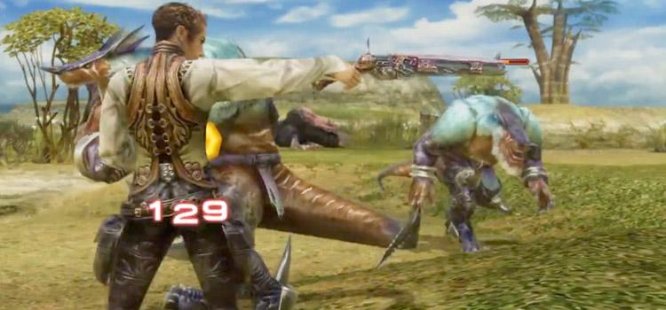 Balthier Machinist Shooting Gun in Final Fantasy XII TZA