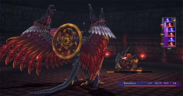 Bahamut battle with Isaaru in FFX HD