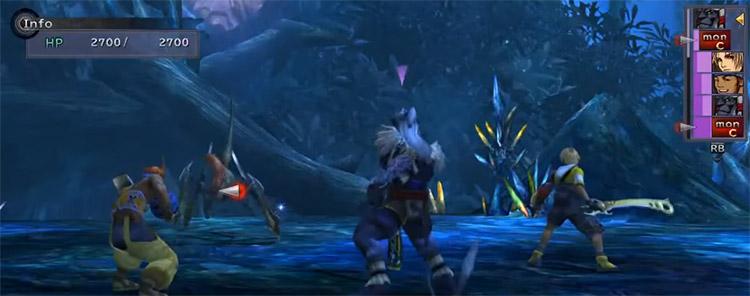 Wakka, Kimahri and Tidus in Battle / FFX HD