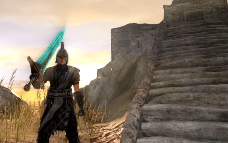 Bluemoon Greatsword in Dark Souls II