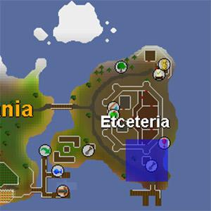 Etceteria Map with Spirit Tree Location