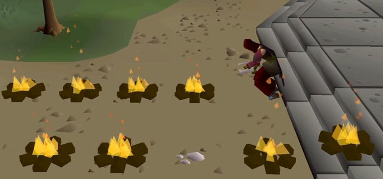 OSRS Lighting Fires with Firemaking Skill