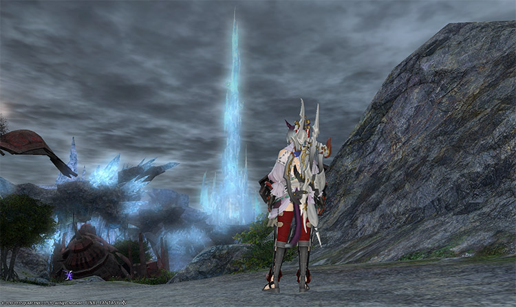 Crystal Tower in the distance / FFXIV Screenshot