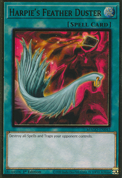 Harpie's Feather Duster YGO Card