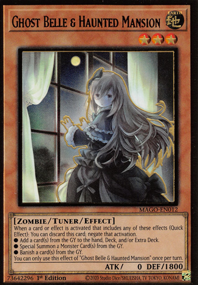 Ghost Belle and Haunted Mansion Yu-Gi-Oh Card