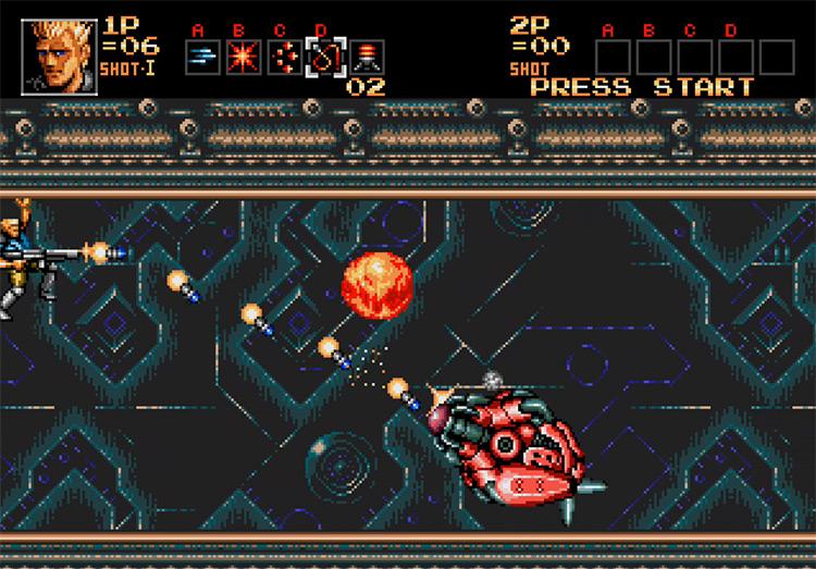Contra: Hard Corps / Mega Drive gameplay