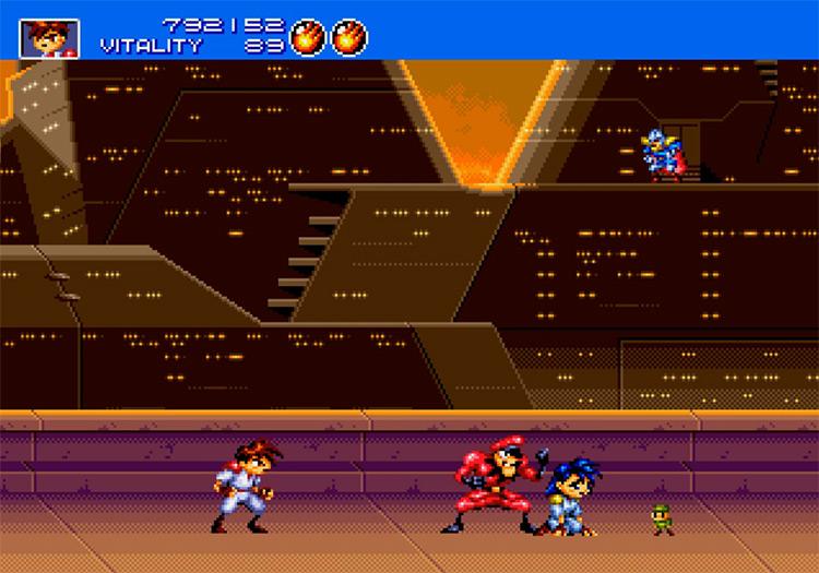 Gunstar Heroes Sega Genesis gameplay