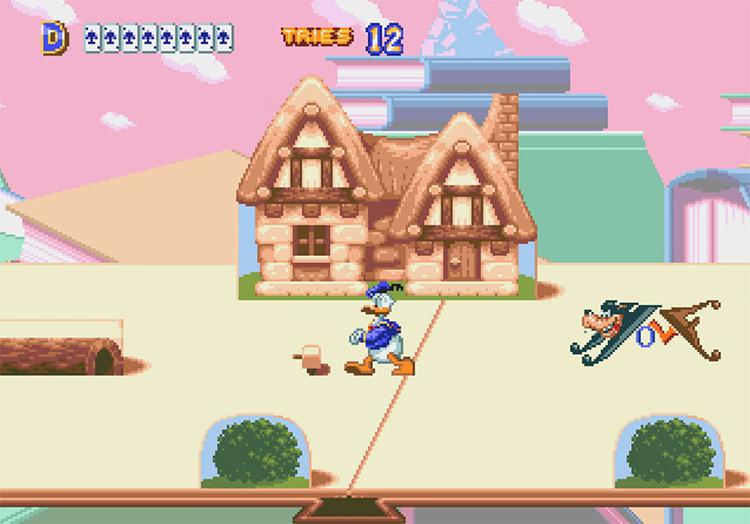 World of Illusion Sega game screenshot