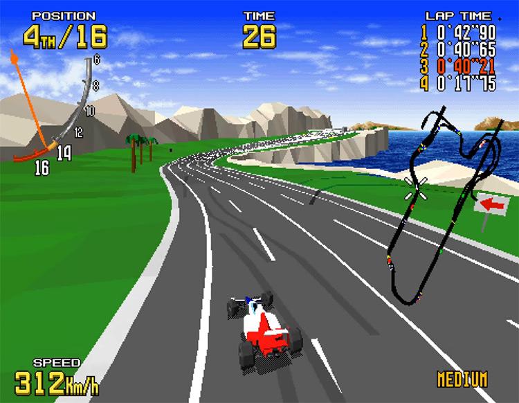 Virtua Racing Sega Genesis gameplay