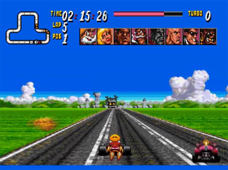 Street Racer Mega Drive gameplay