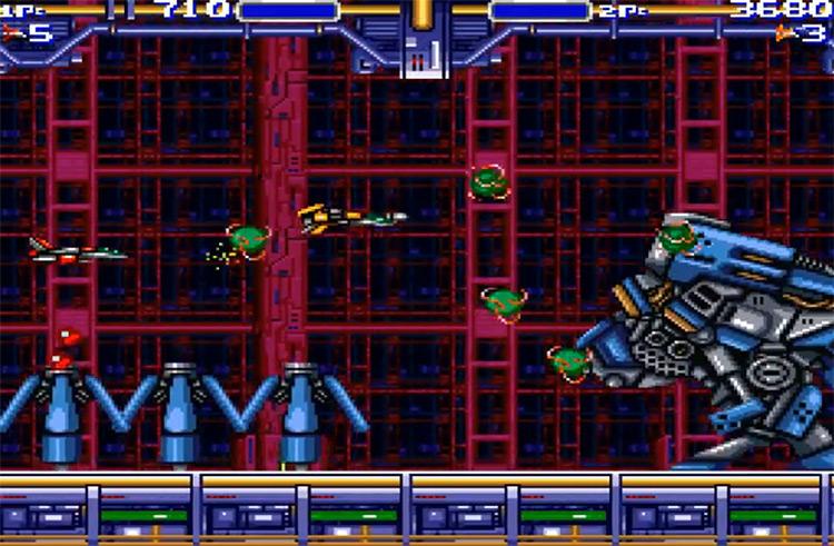 Air Buster Mega Drive gameplay