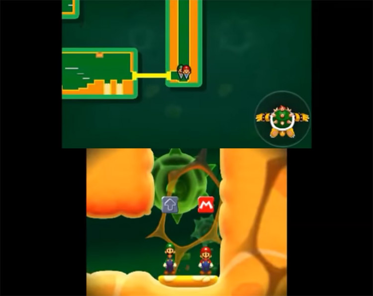Mario & Luigi: Bowser's Inside Story + Bowser Jr.'s Journey gameplay