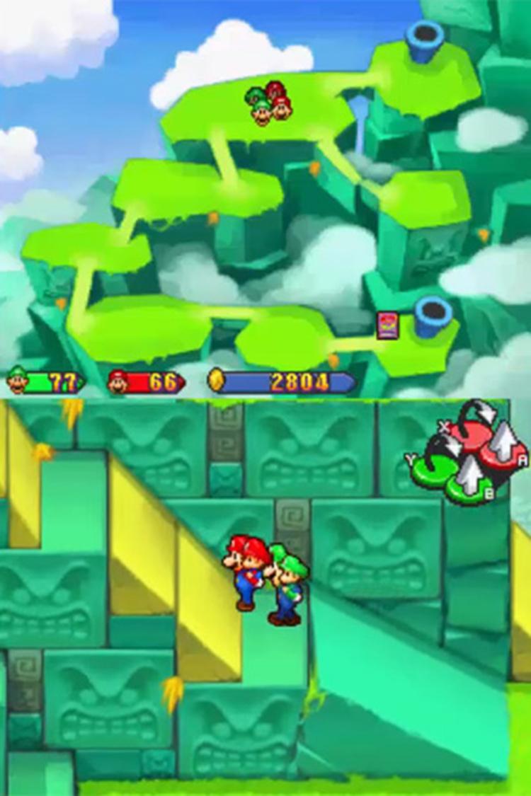 Mario & Luigi: Partners in Time gameplay